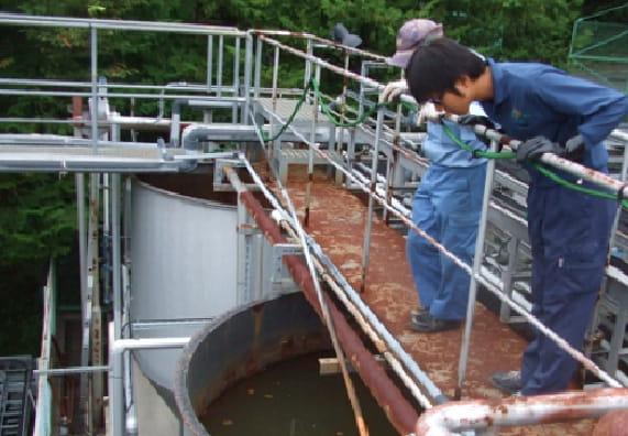 K大学内の排水処理施設